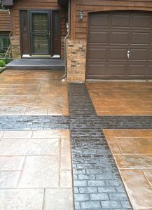stamped concrete driveway cold weather