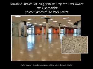 Texas Bomanite provided interior polished concrete hallways at the Briscoe Carpenter Livestock Center