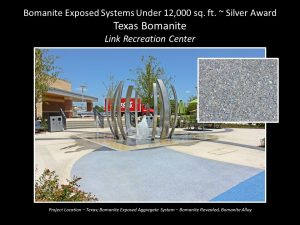 Texas Bomanite installed Revealed and Bomanite Alloy Courtyard at the Link Recreation Center