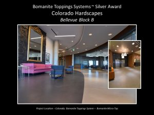 Colorado Hardscapes created a Bomanite Toppings System overlay for the Bellevue Block B with Bomanite Micro-Top