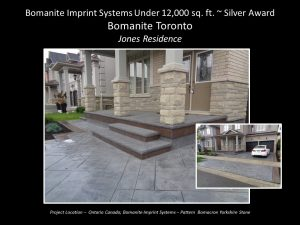 Bomanite Toronto Private Residence Stamped Concrete Driveway, Steps and porch