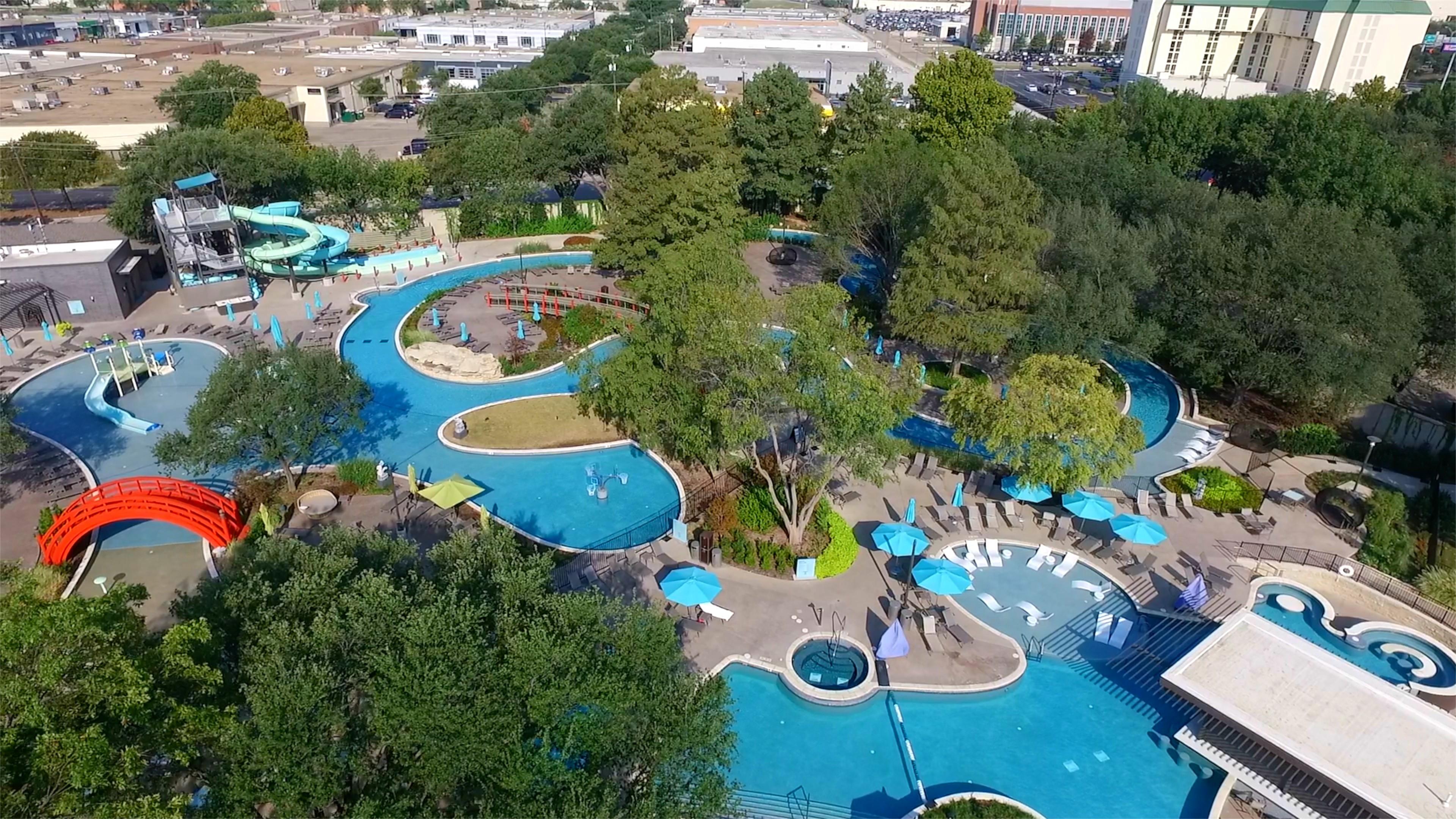 The Hilton Anatole Hotel Jade Waters Pool Complex Bomanite