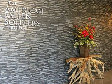American Fallen Soliders Project Texas Bomanite Donates Polished Dyed Concrete Flooring