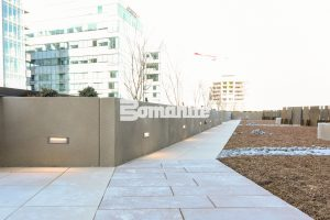 The Coloradan Outdoor Spaces Incorporate Bomanite Micro-Top ST a sand finish that is durable weather resistant and installed by Colorado Hardscapes