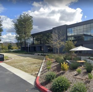 Bomanite Grasscrete Partially Concealed Pervious Concrete System is Installed by TB Penick as an Emergency Vehicle Access for Office Complex in Irvine California