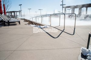 Gaylord Rockies Resort and Convention Center builds nature inspired water park complex, interior flooring, entrances and walkways with Bomanite Exposed Aggregate System, Bomanite Sandscape Texture in Aurora, CO