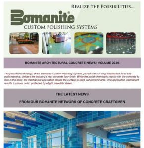 Bomanite Newsletter showcases Grain Valley High School and Infinite Campuses using the Bomanite Modena Systems