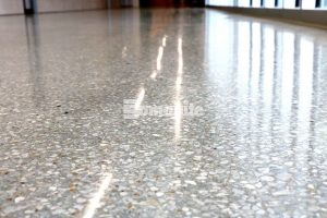 The Bomanite Renaissance Polished Concrete system provided design flexibility, first-cost savings and lower cost maintenance for the new construction of the Olathe West High School interior floors installed by Musselman & Hall Contractors