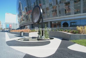 Musselman and Hall created an out of this world landscape for the T-mobile Arena Moon Plaza with Bomanite Imprint Systems and Bomanite Sandscape Texture