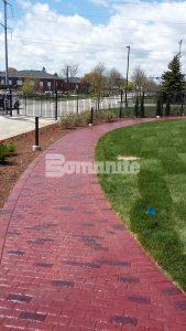 Direct Supply pathways using Bomanite Imprint with Bomanite Running Bond Used Brick.