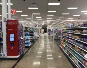 Bomanite licensee Concrete Arts installed the decorative concrete flooring at the reconstructed Target East Lake in Minneapolis, MN, using Bomanite Custom Polishing Systems with Bomanite Patene Teres.